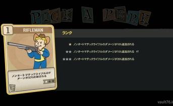 Fallout 76 PERK「Rifleman」
