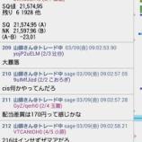 『SQ値速報 2018年3月限MSQ』の画像
