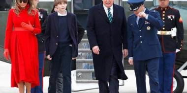 【画像あり】トランプ大統領の息子、バロン君(10歳、身長175cm)wwwwwwwwwwwwwwwwwwwwww