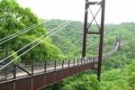 空中散歩『星のブランコ』 木床板人道吊り橋、国内最大級!!