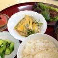 【ランチレポート】7/3 しらすと三つ葉の卵とじ 他 by 庭山シェフ