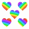 フリー素材 虹色のハートマーク