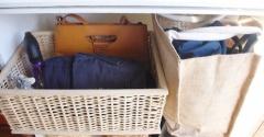 【無印良品ですっきり】自立できないバッグの「見せない」シンプル収納