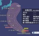 台風20号「ノグリー」台風21号「ブアローイ」北上中。21号は24日頃には「非常に強い勢力」で小笠原へ。10月20日16:40