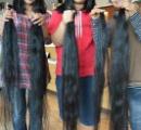 頭髪を失った人へ少女が長年伸ばした髪をプレゼント