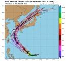 【台風ダブルパンチ!】台風25号、日本縦断中の超強力台風24号の後を追い日本上陸の可能性