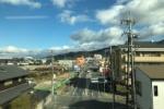 車窓からの景色『京阪電車の河内森駅→交野市駅』の交野市のまちなみ