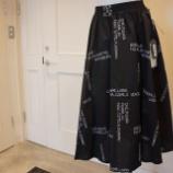 『ottod'Ame(オットダム)ロゴ刺繍タックフレアスカート』の画像