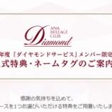 『【ANA】2022年度 「ダイヤモンドサービス」メンバー限定選択式特典の発表がありました!』の画像
