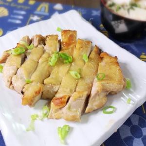 ガツンと食欲をそそる♪鶏もも肉のにんにく味噌焼き
