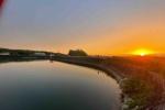 冬と夏でぜんぜん違う!星田大池の夕日を再レポート!〜久しぶりに行ったらまた雰囲気違ってた!〜