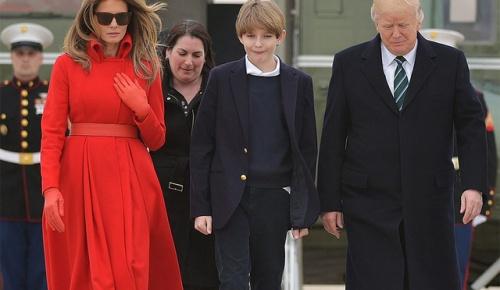 トランプ大統領の息子バロン君、11歳で身長180cm超えか【海外の反応】