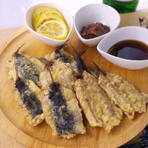 3種の味で頂く♪鰯の天ぷら
