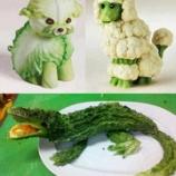 『食べ物で作った動物たち』の画像