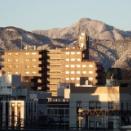 青梅駅近くから見た風景