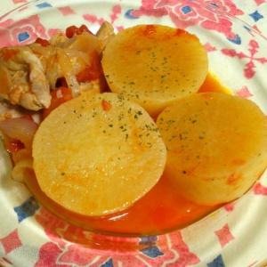 大根と鶏肉のトマト煮込み