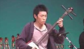 【日本の楽器】     三味線 の伝統的奏法による 津軽じょんから節。  海外の反応