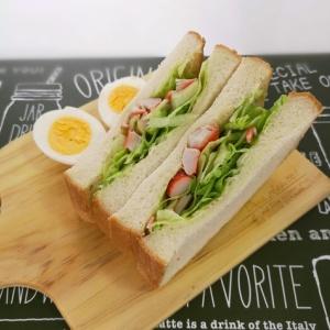 レタスがたっぷり♪サラダサンドイッチ