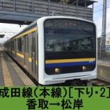 『成田線(本線)車窓[下り・2]香取→松岸』の画像