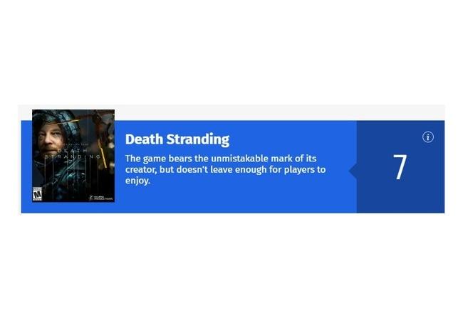 【デスストランディング】レビュー解禁!!gameinformerで7点、IGNで6.8点【海外レビューまとめ】