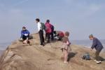 交野山の頂上にある『観音岩で人に出会う』とこんな感じ~こんなところで井戸端会議~