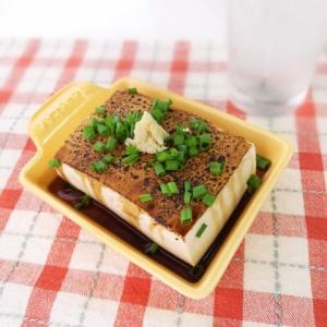 醤油の香りで絶品♪炙り豆腐