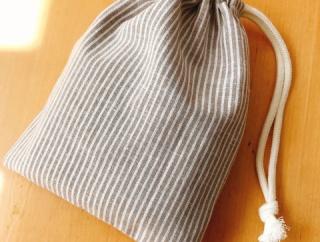 1枚布で裏地付き巾着!☆作り方☆