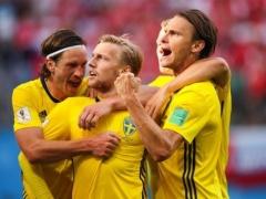 【 スウェーデン vs スイス 】試合終了!10番フォルスベリが決勝点!スウェーデン、スイスを下し24年ぶりに8強入り!