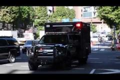 緊急走行中のパトカーが一般車両と衝突事故