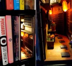 美しい...本棚の隙間に日本の昭和風裏路地ジオラマを作ってみた