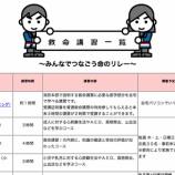 『戸田市消防1課の救命講習で一般市民向け応急手当WEB講習が公開されています』の画像