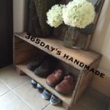 『◆玄関周りも模様替え!りんご箱を使って靴の収納◆』の画像