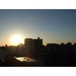 『朝日に見とれる』の画像