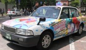【アニメ文化】    日本の タクシーが  アニメキャラの 痛タクシーだらけになってる・・・。    海外の反応