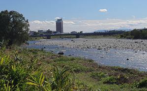 利根川の冬季ニジマス釣り場へ