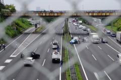 【常磐道】実況見分中、追越車線で脇見運転していた車が事故る
