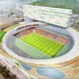 『【長崎】新スタジアム計画 2万人規模への変更を検討! 新型コロナ対策で座席間隔を広げ「3密」回避など』の画像