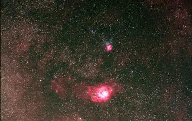 『いて座の散光星雲と天の川』の画像