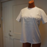 『MSGM(エムエスジーエム)ホワイトベース×ホワイトロゴTシャツ』の画像
