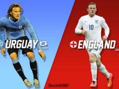 ウルグアイ vs イングランド!ルーニー、W杯初ゴールもスアレスの2発で撃沈!(動画あり)