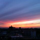 『戸田市で一昨日に撮影した夕暮れ』の画像