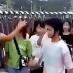 【動画】中国、化粧している女子に罰、先生がバケツでしぼった汚れ雑巾で顔を拭く [海外]