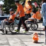 『RUNTOMO2019光市のコースを走る参加チーム』の画像
