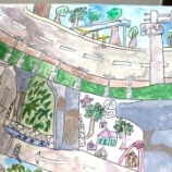 『バイパスのある風景・立体交差を描く』の画像