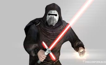 カイロ・レンのマスクとライトセーバーMOD