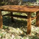 『表札二個・楢のテーブル』の画像
