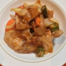 「揚げない酢豚」ケチャップと酢の味が適度で良い