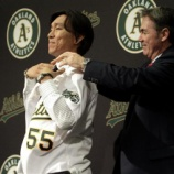 『【MLB】アスレチックス入団の松井秀、会見で「先頭切って引っ張る」…米メディアは年俸425万ドル(約3億5700万円)と報道』の画像