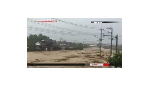 福岡、大分などで記録的豪雨、海外から無事を願う声が続出