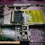 『ibook G4 取れてしまった電源コネクタの再ハンダ付け手術』の画像